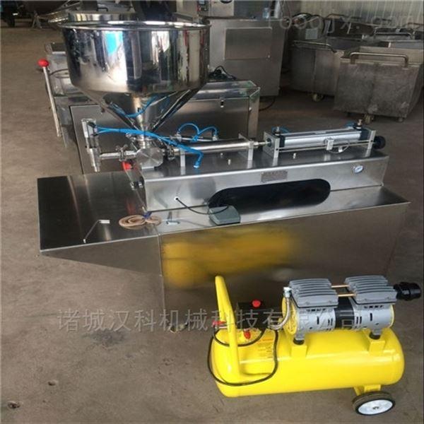 定量气动鱼滑东北大酱定量灌装机