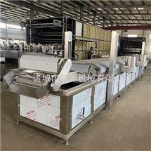 豆干链条式油炸机/大型全自动豆皮油炸设备